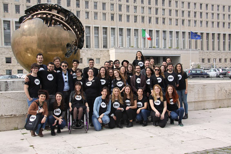 Forty young Italians with ONE for the fight against world hunger