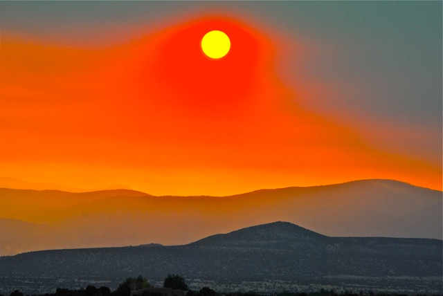 A special sunset on the hills of New Mexico