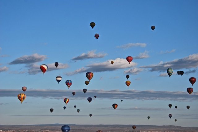 Among the hot-air balloons 