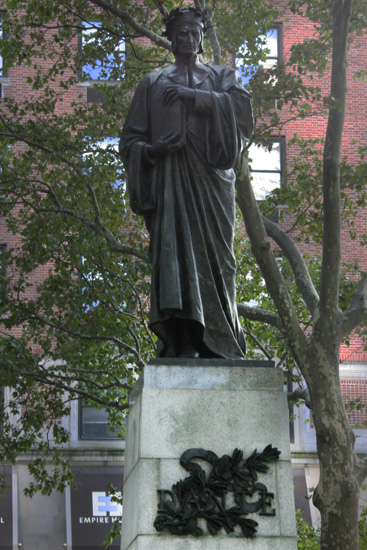 That statue of Dante in the heart of Manhattan