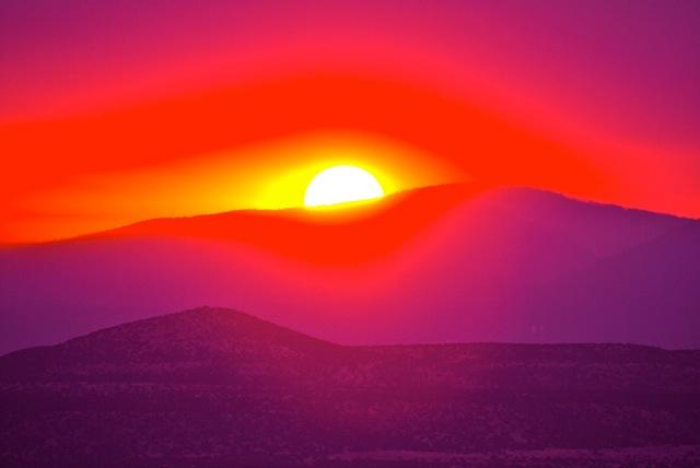 Un Tramonto Speciale Sulle Colline Del New Mexico